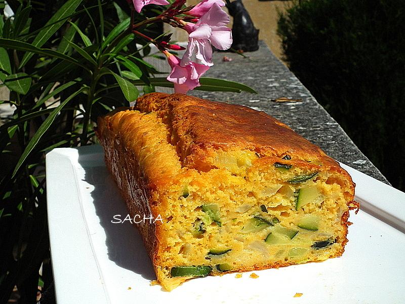 Cake Courgette Pesto Chevre