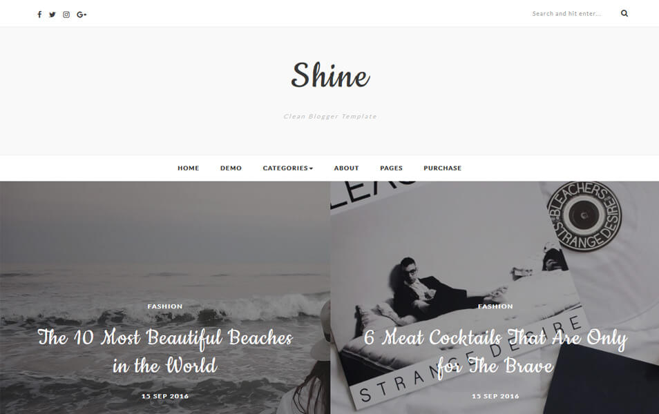 Shine Blogger Teması İndir