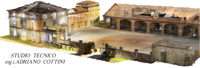 "Rustic Court ""La Faggiola"", Piacenza (ITALY) - Colorful 3D model - point cloud (partial view) - by Studio Tecnico Cottini - JRC 3D Reconstructor"