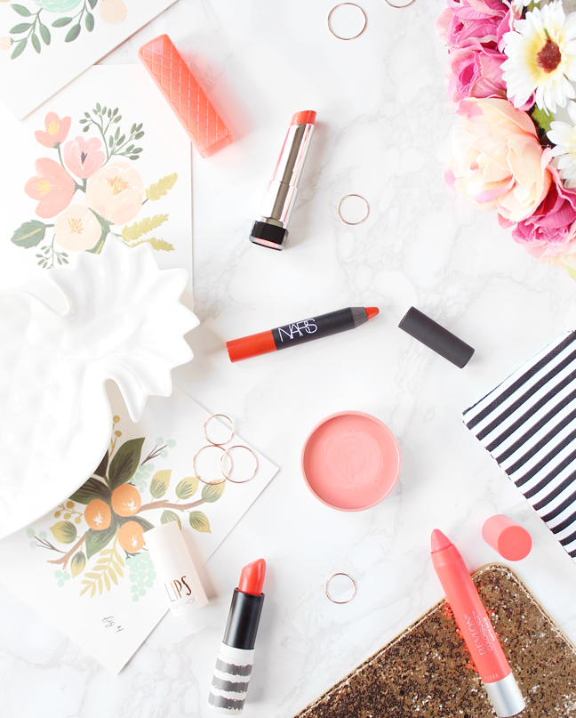 ORANGE LIPSTICKS FOR SUMMER