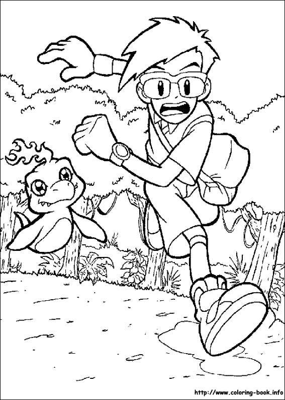digimon weregarurumon coloring pages-#37