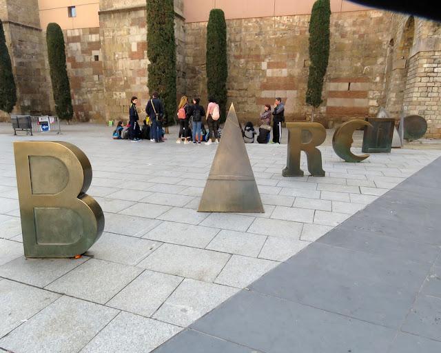 Barcino by Joan Brossa, Plaça Nova, Barcelona