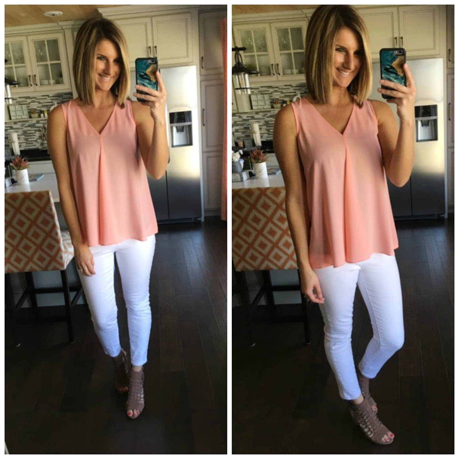 f9302df19070 Vince Camuto Drape Front Blouse, 40% OFF – I absolutely love the color of  this beauty along with the cut. I am wearing it here in XS and could most  likely ...