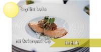 Gegrillter Lachs mit Gurkenquark-Dip