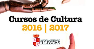 Vista parcial cartel cursos cultura ayuntamiento de Illescas. IMAGEN ILLESCAS COMUNICACIÓN