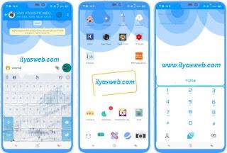 Tema Blue Circle untuk Vivo Smartphone