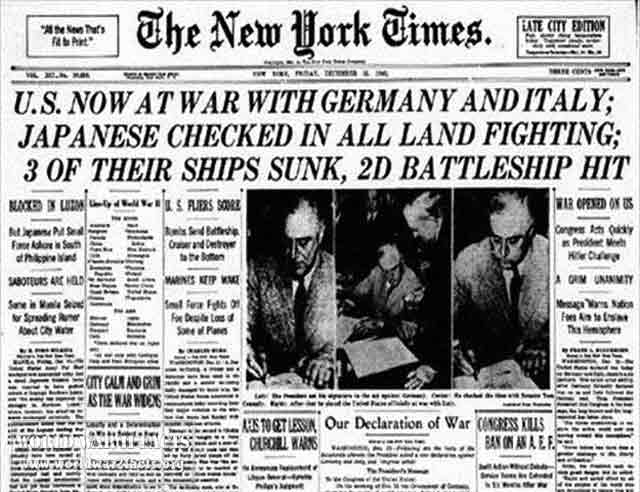 New York Times, 11 December 1941 worldwartwo.filminspector.com