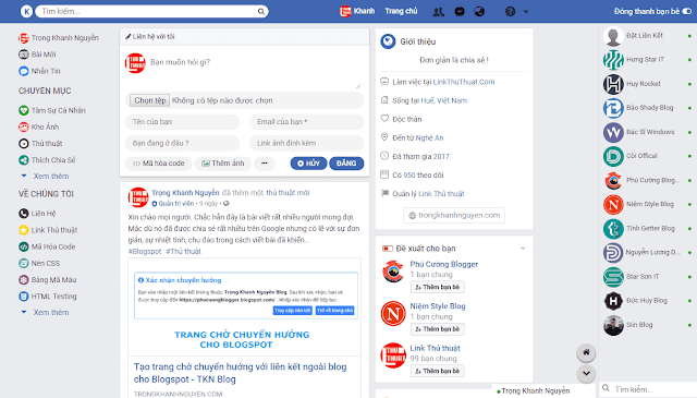 SHARE TEMPLATE FACEBOOK PARODY BY KHANH BLOGGER