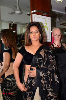 Actress Neetu Chandra Stills in Black Saree at Designer Sandhya Singh's Store Launch  0004.jpg