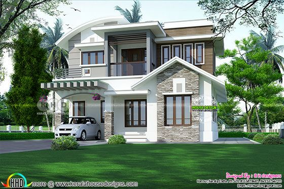 2155 square feet 3 bedroom modern mixed roof home