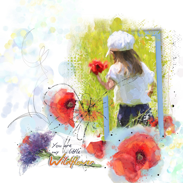 scrapbooking digital clindoeildesign clin d'oeil design NBK Design Wildflower collection