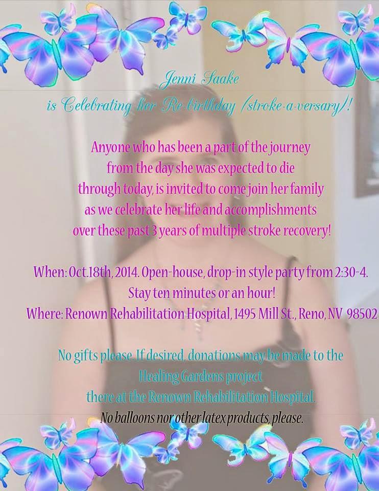 stroke of grace re birthday party invitation