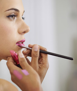 Blot and use powder to make lipstick last - suggested By Bridal Makeup Artist