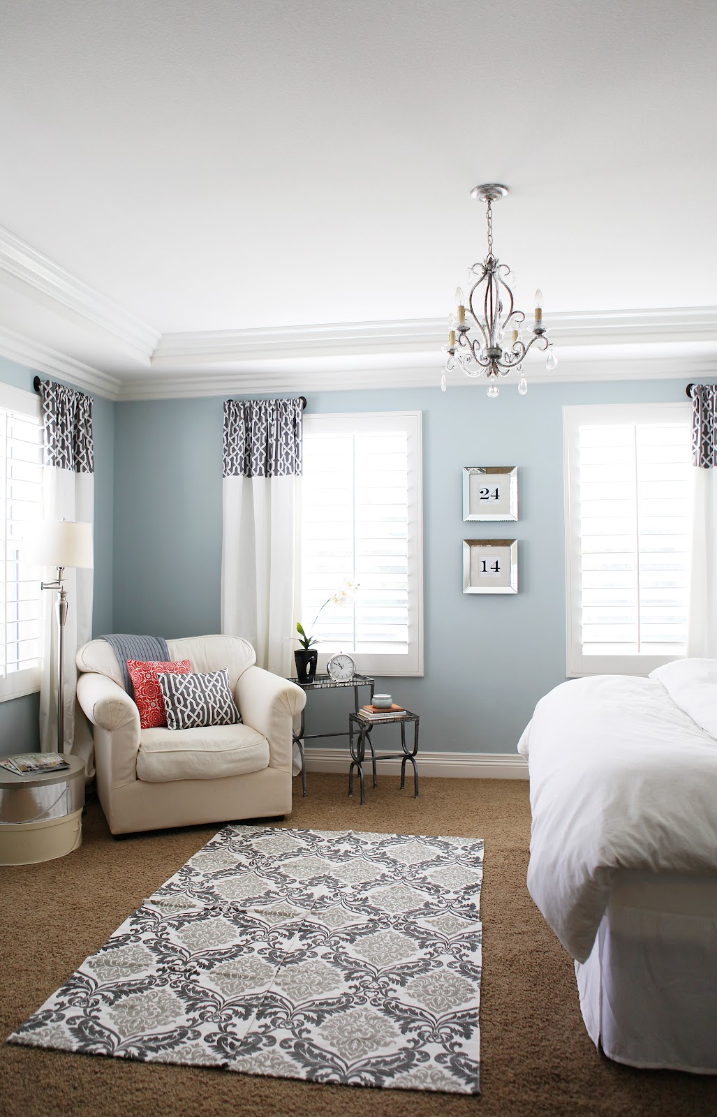 how to decorate a large living room with little furniture duck egg blue brown sofa sadie + stella: favorite feature: thoughtful place