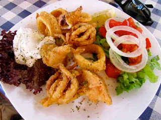 Calamari Food Lunch Rhodes Greek Islands Greece