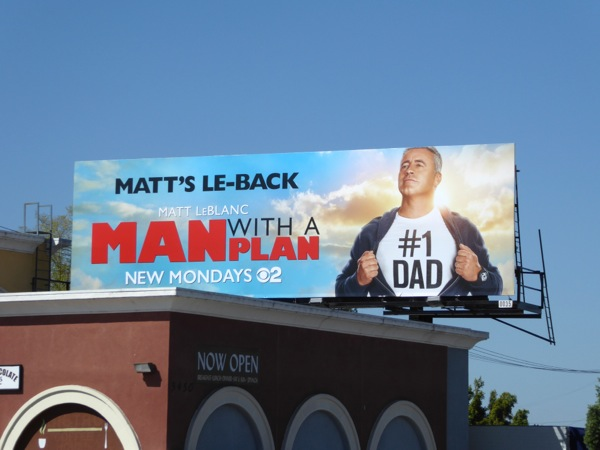 Matt LeBlanc Man with a Plan billboard
