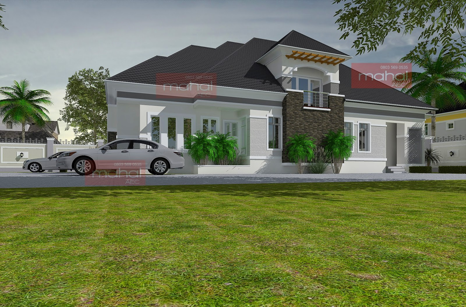 Contemporary nigerian residential architecture for 4 bedroom house designs in nigeria