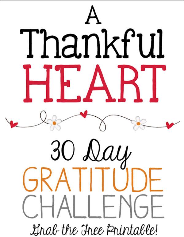 30 day gratitude challenge free printable