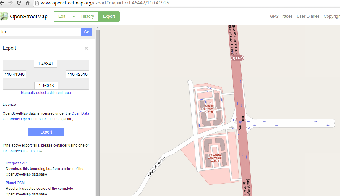 how to change a map in osm file to wkt file using osm2wkt | my