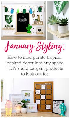 Tropical Home Decor Theme - Hawaiian, Bohemian Home Styling, Vintage, Coastal Home Decor, Rustic