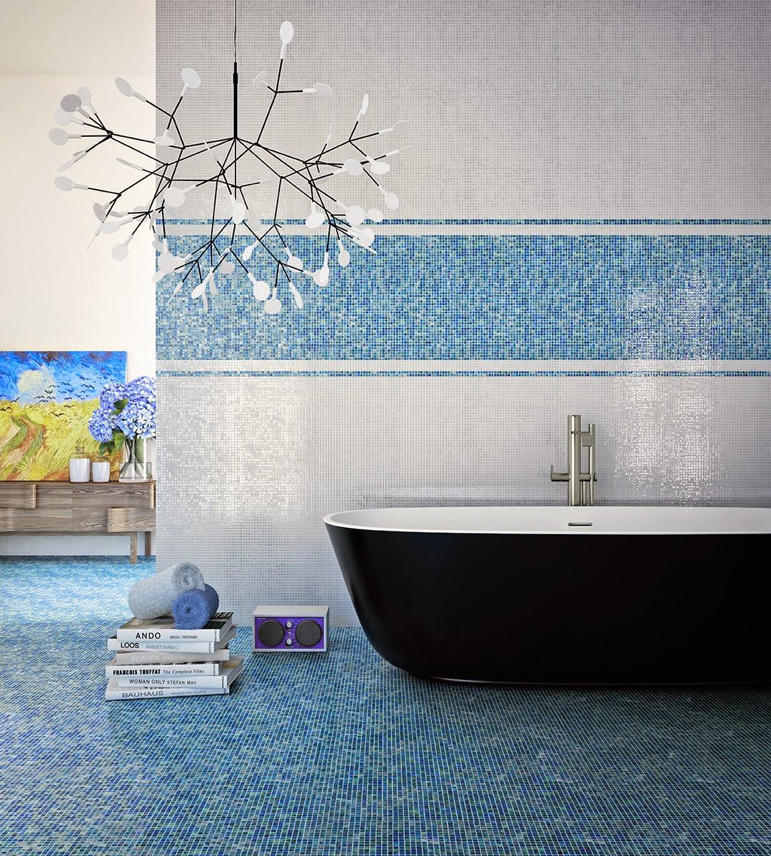 Decora Inova : As pastilhas em banheiros e lavabos: 28 ideias  #898142 1080x1200 Banheiro Cimento Queimado E Pastilhas