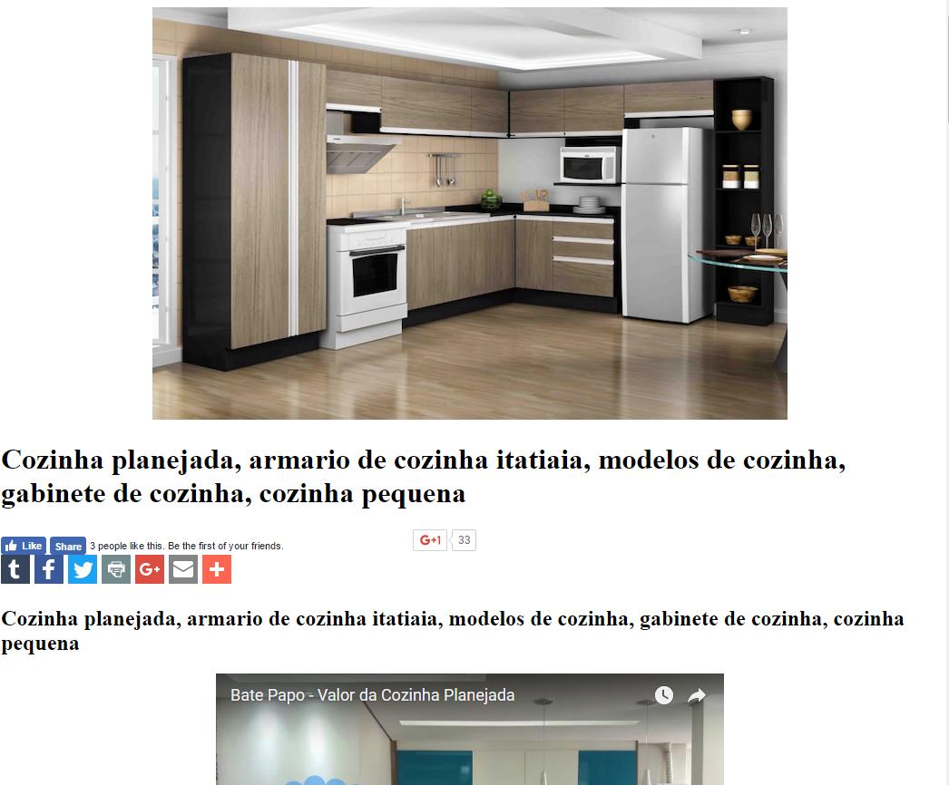 Cozinha Planejada Armario De Cozinha Itatiaia Modelos De Cozinha  ~ Armarios De Cozinha Pequeno