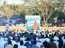 Keceriaan Satgas Pamtas Yonif R 712/Wiratama Rayakan Idul Fitri