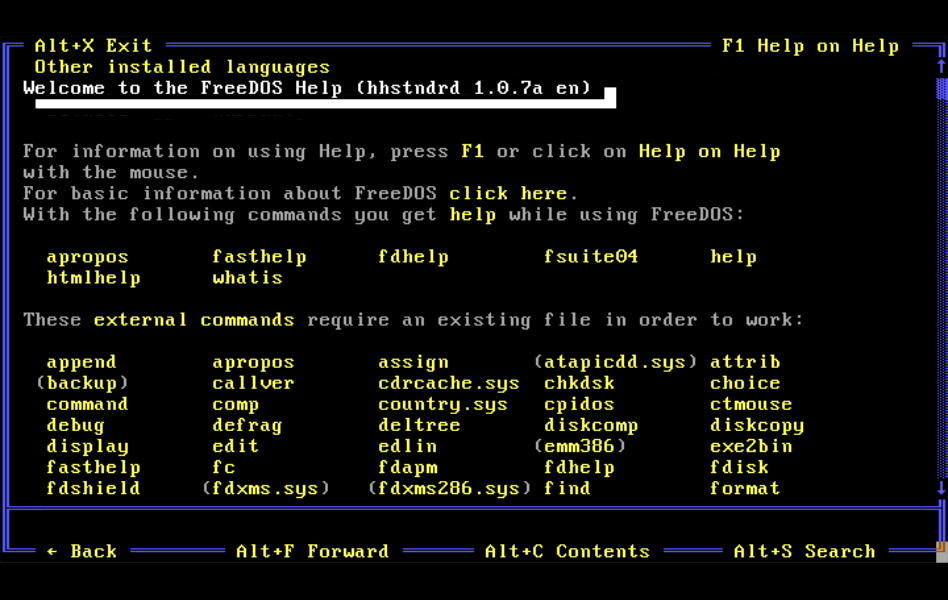 The FreeDOS Project blog: December 2016
