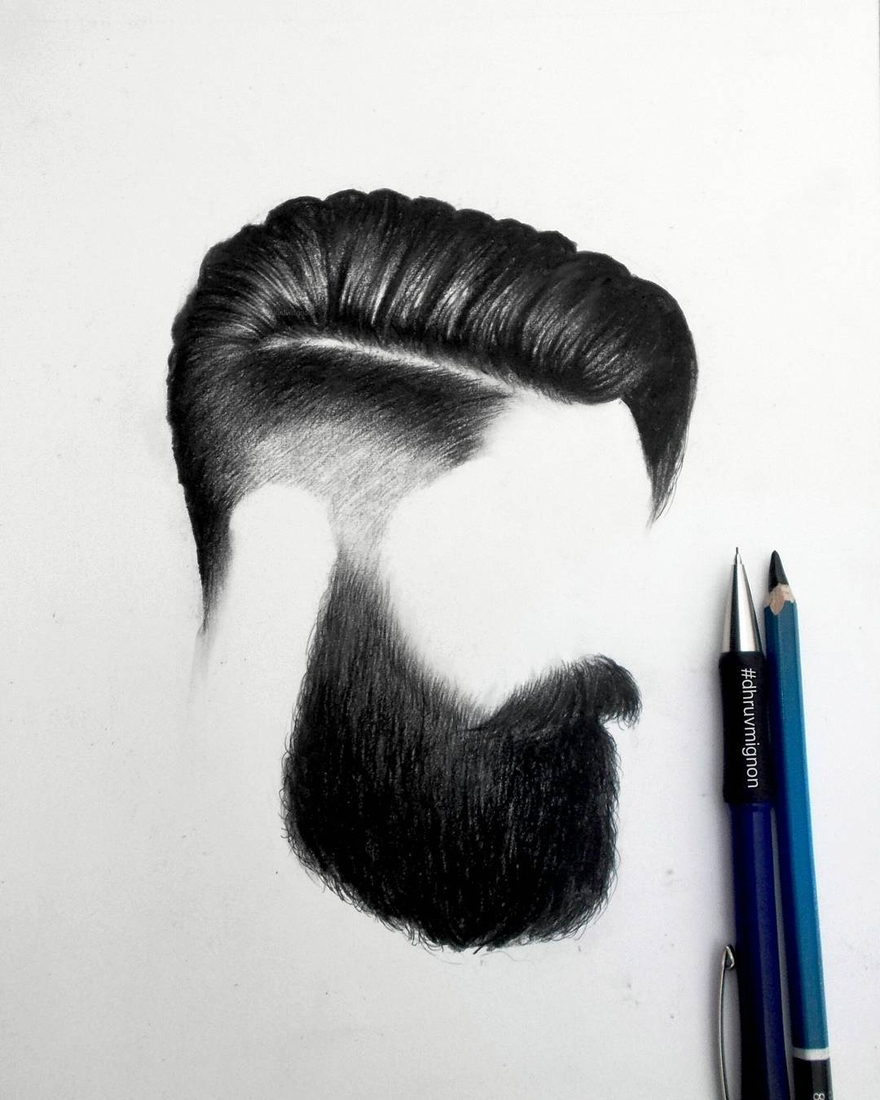 01-dhruvmignon-Minimalist-Realistic-Hair-Study-Drawings-www-designstack-co