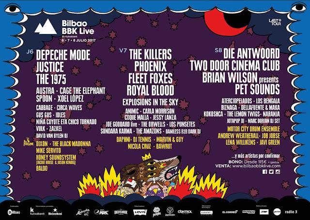 BBK Live, 2017, guía práctica, bilbao, festival
