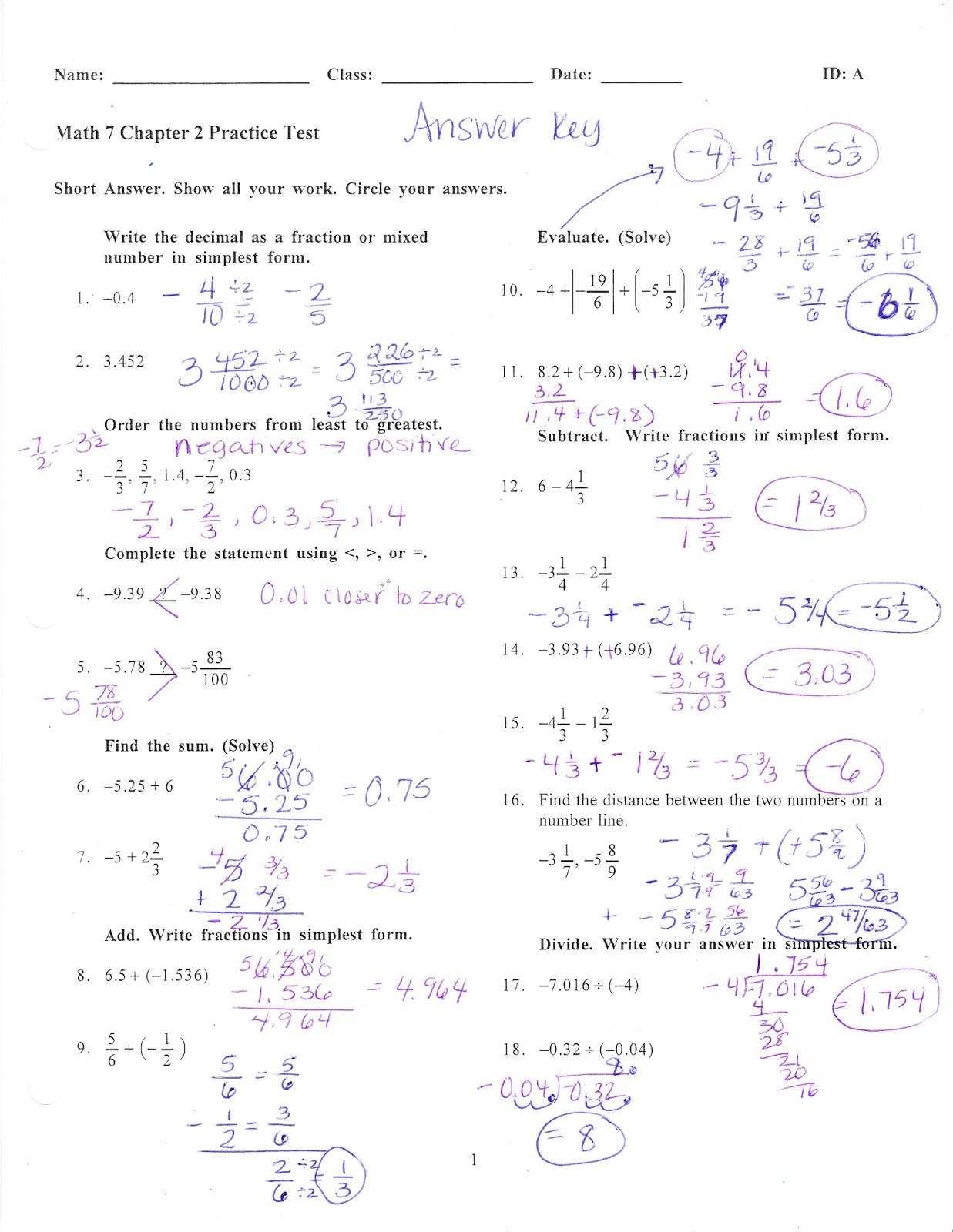 Ms Jean S Classroom Blog Math 7 Chapter 2 Practice Test