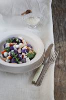 Ensalada de patatas violetas