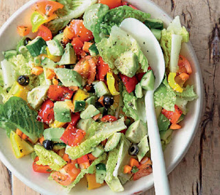 avocado, pepper and olive salad recipe