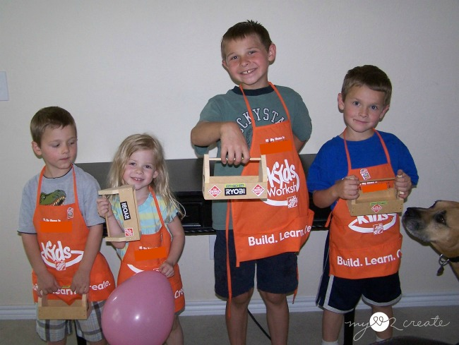 Home Depot's Workshops and Virtual Party, MyLove2Create