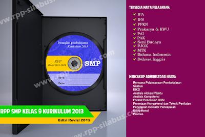 Jual RPP SMP Kelas 9 Kurikulum 2013 Edisi Revisi 2015