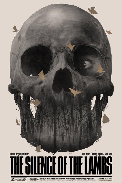 Grzegorz Domaradzki ilustrações cartazes pôsteres filmes arte cinema The Silence of the Lambs (O Silêncio dos Inocentes)