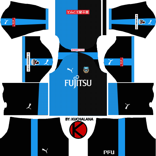 4e2f1dc4401 Kawasaki Frontale 川崎フロンターレ kits 2018 - Dream League Soccer ...
