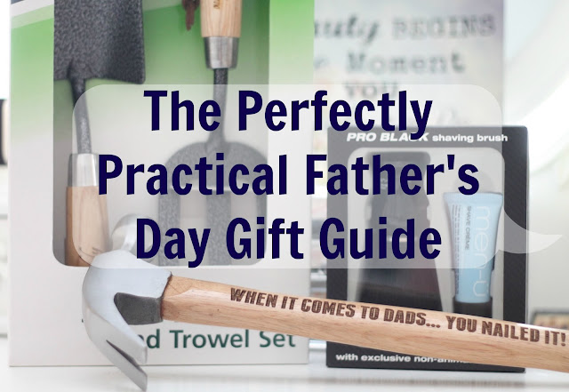 The perfectly practical father's day gift guide - a guide of practical gifts for men including personalised hammers and garden tools