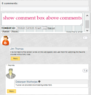 Show Comment Box above Comments on Blogger