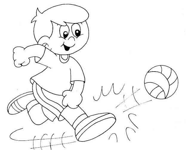 coloring pages phycial activites - photo#19