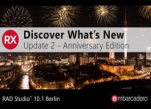 RAD Studio 10.1 Berlin Update 2 - Anniversary Edition