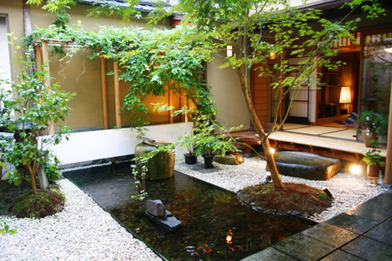 Desain Taman untuk Rumah Model Jepang