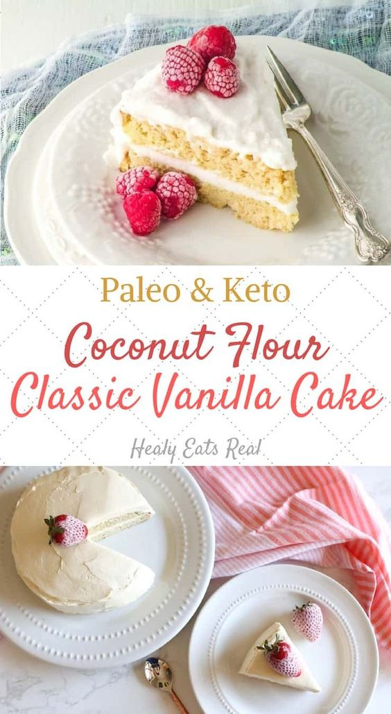 (Keto/Paleo)-Classic Vanilla Coconut Flour Cake
