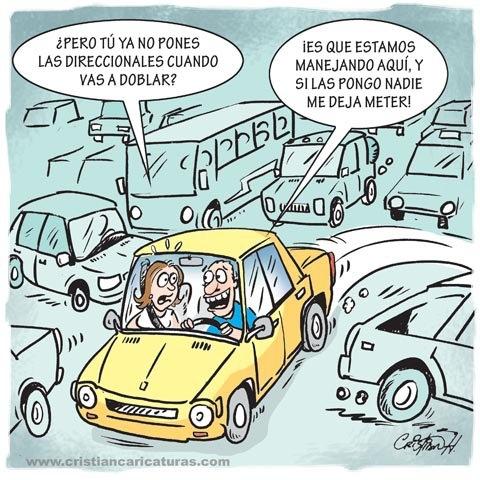 Caricatura: Manejando en RD