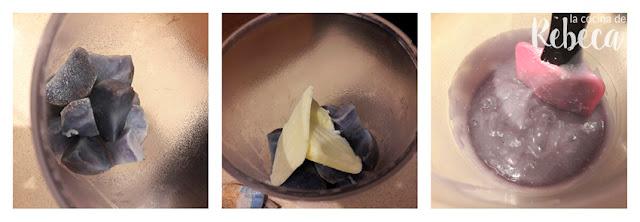 Receta de parmentier morada (crema de patata vitelotte) 02