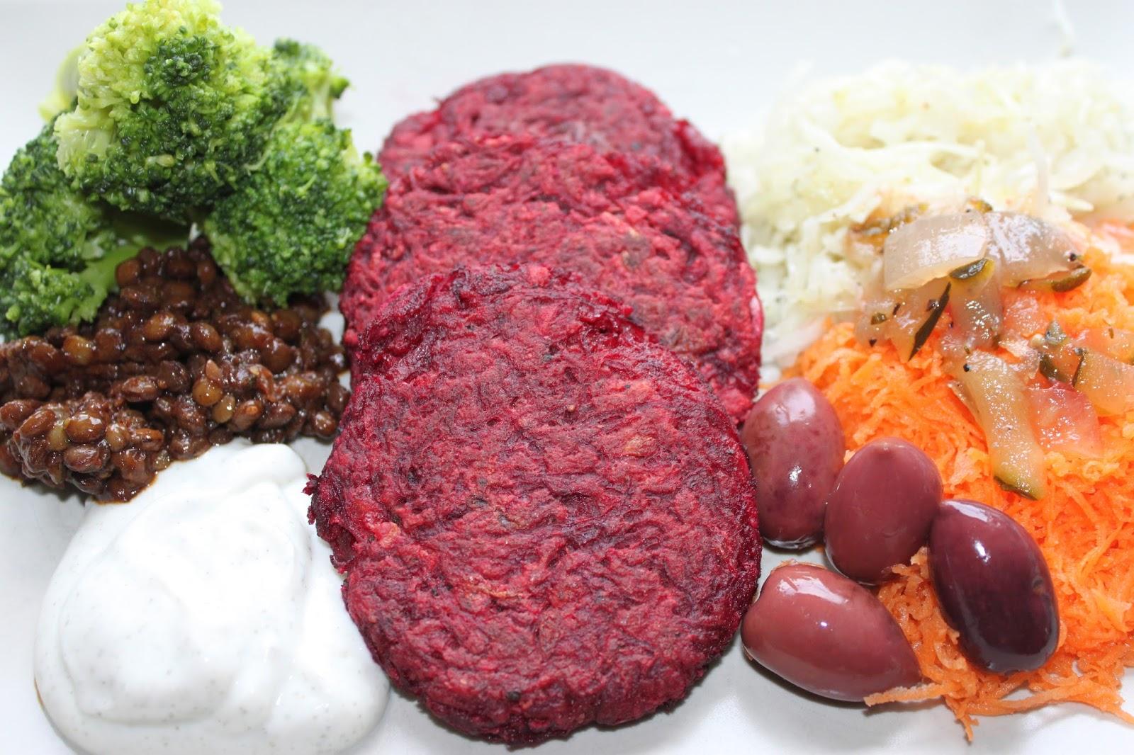 vegetariska rödbetsbiffar recept