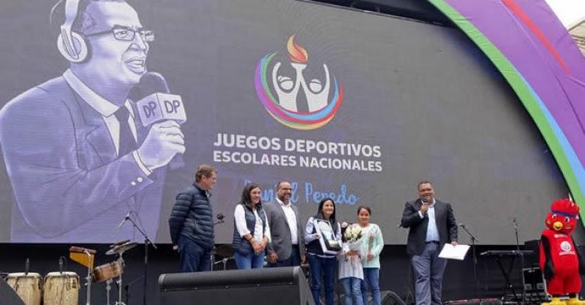 MINEDU: Ministro Alfaro inaugura Juegos Deportivos Escolares Nacionales «Daniel Peredo» www.minedu.gob.pe