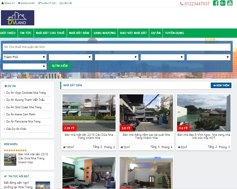 share code template blogger bất động sản