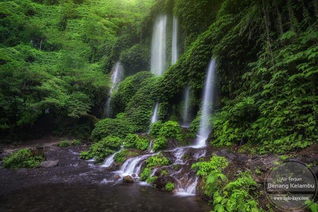 Pesona Benang Kelambu waterfall Lombok