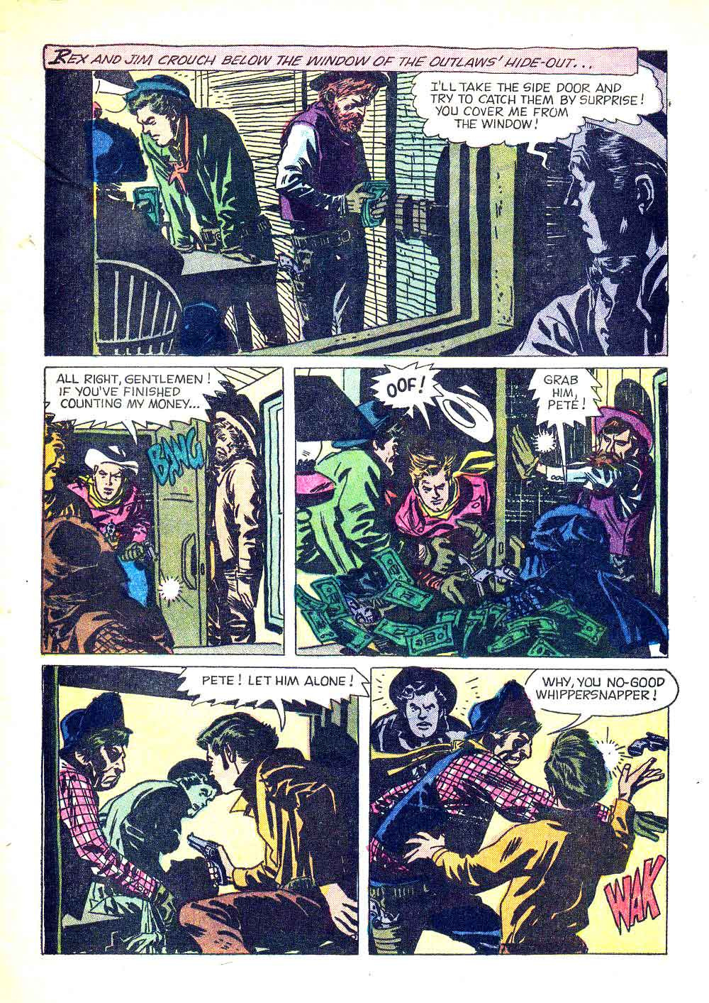 Rex Allen v1 #24 dell western comic book page art by Alex Toth